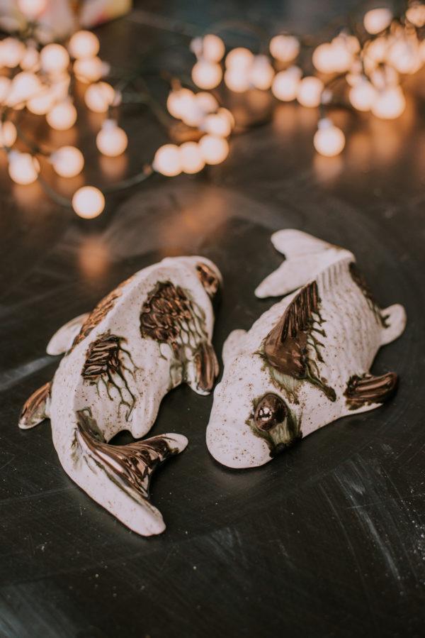 koi fish black and gold
